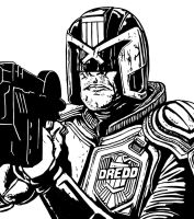 Dredd Sketch by allistermac