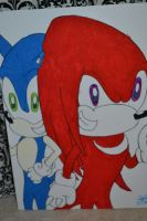 Sonic and Knuckles poster by ShadowsLilHoexx