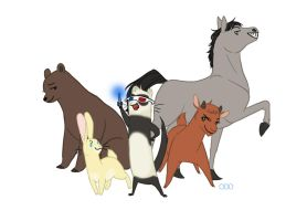 The Tenth Doctor and the Pet Companions by thatoddowl