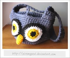 Crocheted Owl Handbag by WireMySoul