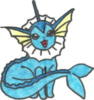 Vaporeon Coloured by CoolMan666
