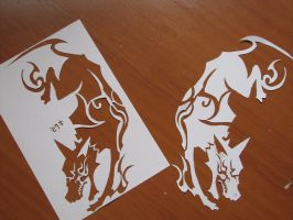 DOGS STENCIL by IVANPS