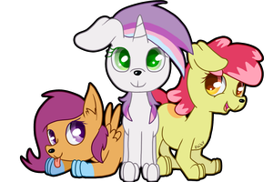 Cutie Mark Crusaders Pony Dogs by Zoiby