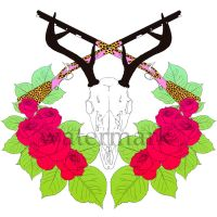 deer skull design 2 by BlackNina