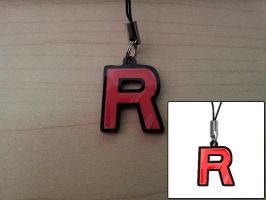 1-inch Charm - Team Rocket Logo by DivineJayce