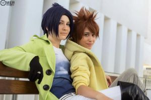 Tsuna and Mukuro by GracefulGlider