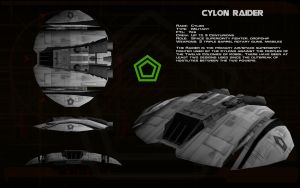 Cylon Raider Mk I ortho by unusualsuspex