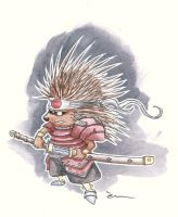 samurai hedgehog by Mathieu-Larno