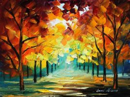 Forest of love by Leonid Afremov by Leonidafremov