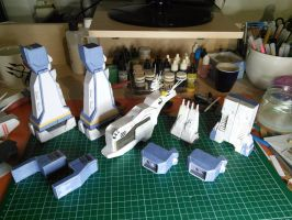 SDF-1 Macross Main Body papercraft by nyankodevice