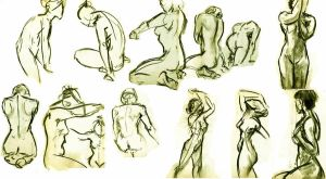 gesture figure drawings 1 by AnnaThomas2012