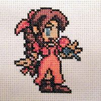 Aerith Cross Stitch up close by Rainya
