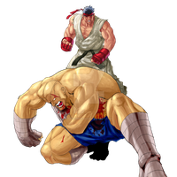 Ryu vs Sagat by Stitchking83