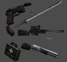 Weapon models FREE by newhere
