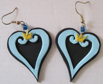 Kingdom Hearts Earrings by puppy-lou