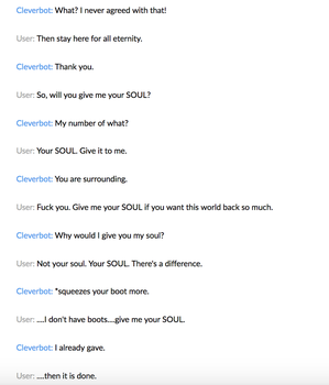 Cleverbot 7 by MistwolfUmbreon