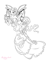 Flora Harmonix Linework for Contest by Coloralecante