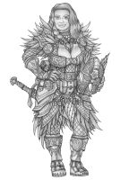 [COMMISSION] Dagny Ironwill - Dwarf Cleric by s0ulafein