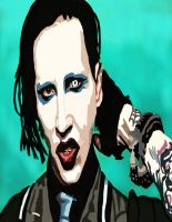 Marilyn Manson Pen by daylover1313