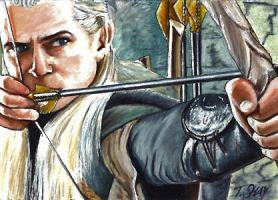 Legolas Sketch Card LOTR by Dr-Horrible