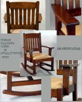 Rocking Chair with arms by DryadStudios