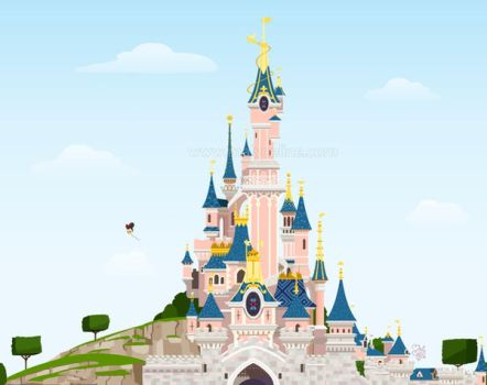 Disney castle by Malycia