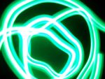 green abstract light 2 by salvadorsam
