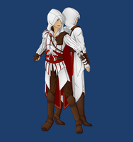 Assassin's Creed - Ezio and Altair by ShadowCutie1