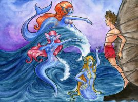 Mermaids' Luring by eurynomos