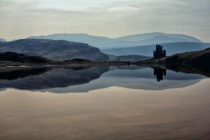 Ardvreck Castle Reflections by derekbeattieimages