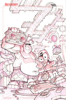 Toejam and Earl Cover Lines by RobDuenas