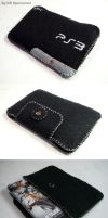PS3 iPod touch felt case by DRSpaceman