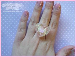Charming Moon heart ring by Irudisu