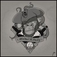 Blackbeard the Monkey by smescio1986