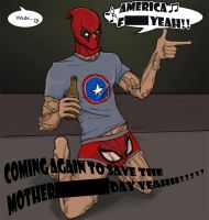 Deadpool: In Which Wade Wilson is a Secret Cap Fan by Falln4DarkAngel