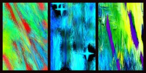 trio abstract collage by YOKOKY