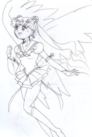 Eternal Sailor Moon sketch by Fighter4luv