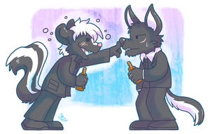Commission - Drunk as a Skunk by raizy