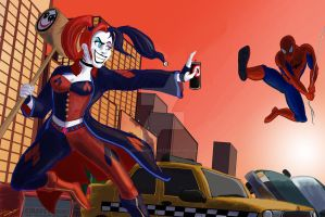 When Harley Met Spidey by moviedragon009v2