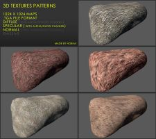 Free 3D textures pack 24 by Nobiax