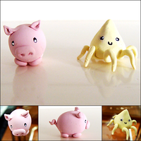 Squid and Pig by CookieCraft