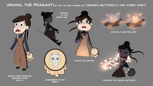 Urania, the Peasant - The First Butterfly by jgss0109
