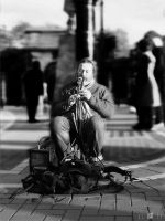 Flute player by horeb