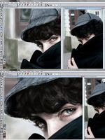 Underway - BBC Sherlock painting by MagicBunni