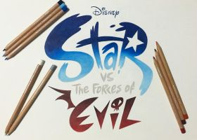 Star vs. the Forces of Evil Hand Drawn Logo by Star-Butterfly
