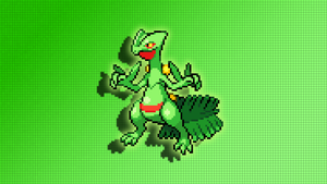 Sceptile Sprite Wallpaper by Glench