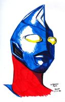Ultraman Dyna sketch by RogueDerek