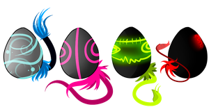 Filly eaters/kyrin eggs, offer to adopt by Sadistic-Lus