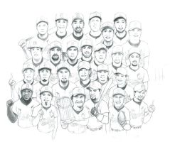 St. Louis Cardinals team by grantshorterart