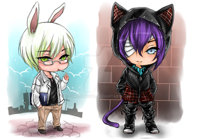 Chibis for NekoChanSensei by shrimpHEBY